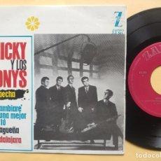 Discos de vinilo: MICKY Y LOS TONYS - EP SPAIN PS - EX+ * SOSPECHA / TE CAMBIARE POR UNA MEJOR QUE TU / MALAGUEÑA + 1. Lote 198326452