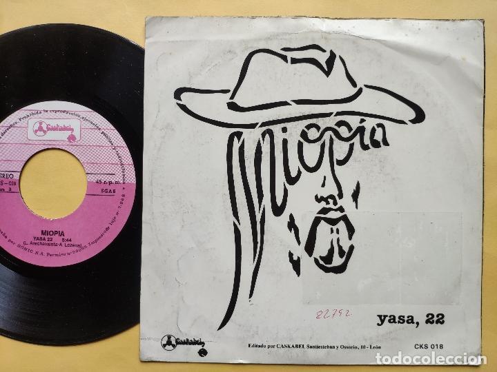 Discos de vinilo: MIOPIA - 45 Spain PS - MINT * CANTAD AL ROCK N ROLL / YASA - Foto 2 - 198344121