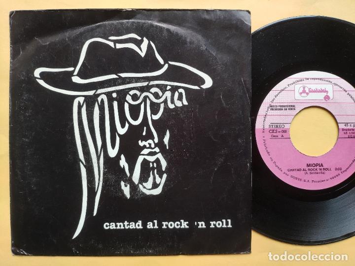 MIOPIA - 45 SPAIN PS - MINT * CANTAD AL ROCK 'N ROLL / YASA (Música - Discos - Singles Vinilo - Grupos Españoles de los 70 y 80)