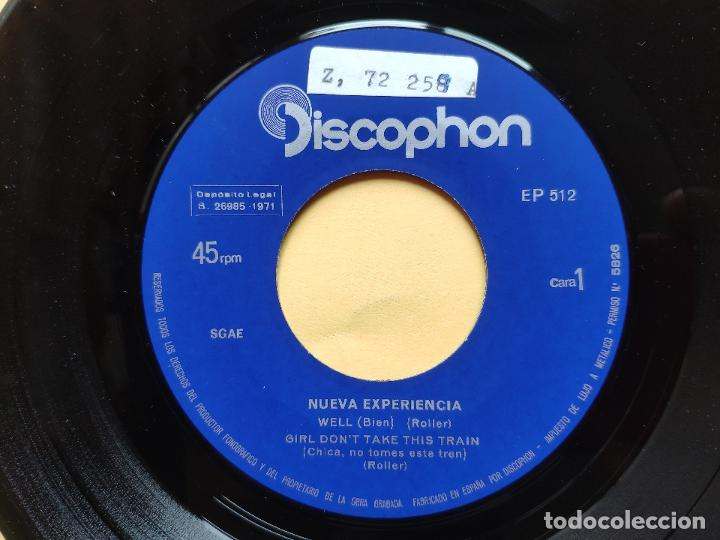 Discos de vinilo: NUEVA EXPERIENCIA - EP Spain PS - MINT * WELL / SAYING GOOD BYE / GIRL DON T TAKE THIS TRAIN + 1 - Foto 3 - 198353372