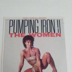 Discos de vinilo: PUMPING IRON II THE WOMEN ( 1985 ISLAND USA ) THE ART OF NOISE BLACK UHURU GRACE JONES WILL POWERS . Lote 198358070