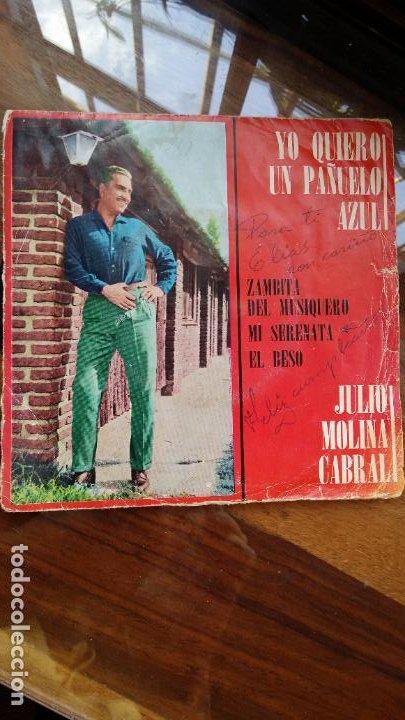 JULIO MOLINA CABRAL, YO QUIERO UN PAÑUELO AZUL...INDUSTRIA ARGENTINA (Música - Discos - Singles Vinilo - Cantautores Internacionales)