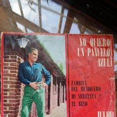 Discos de vinilo: JULIO MOLINA CABRAL, YO QUIERO UN PAÑUELO AZUL...INDUSTRIA ARGENTINA. Lote 198361540