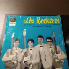 Discos de vinilo: SINGLE DISCO VINILO LOS ROCKEROS EN FORMA REGAL EMI 1965. Lote 198361805
