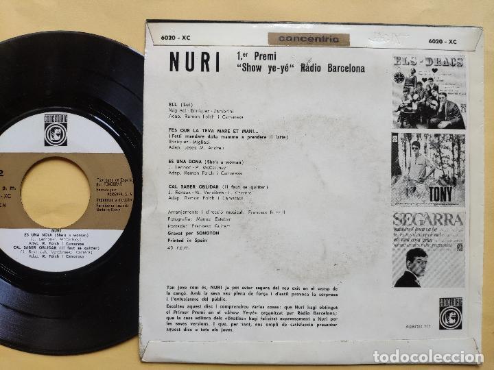 Discos de vinilo: NURI - EP Spain PS - EX+ * SHOW YE YE * ELL / ES UNA DONA ( BEATLES COVER ) + 2 * CON HOJA INTERIOR - Foto 3 - 198364383