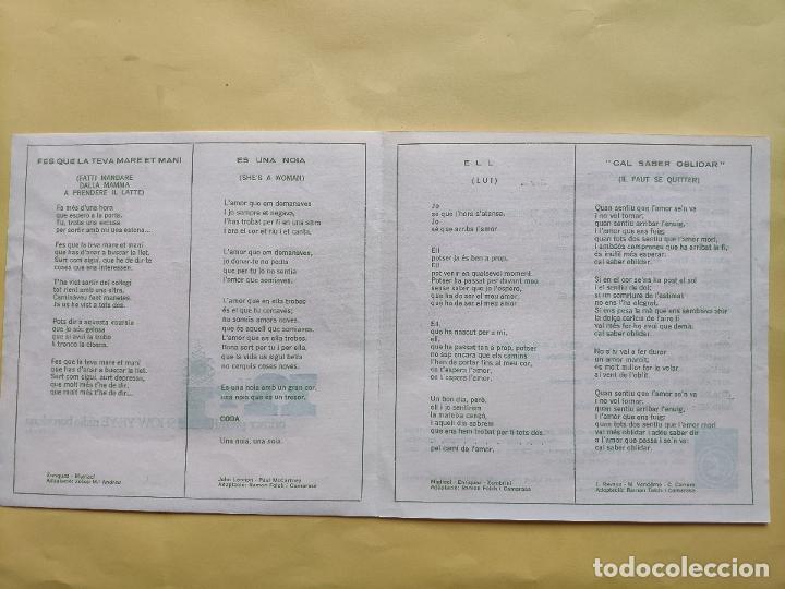 Discos de vinilo: NURI - EP Spain PS - EX+ * SHOW YE YE * ELL / ES UNA DONA ( BEATLES COVER ) + 2 * CON HOJA INTERIOR - Foto 8 - 198364383