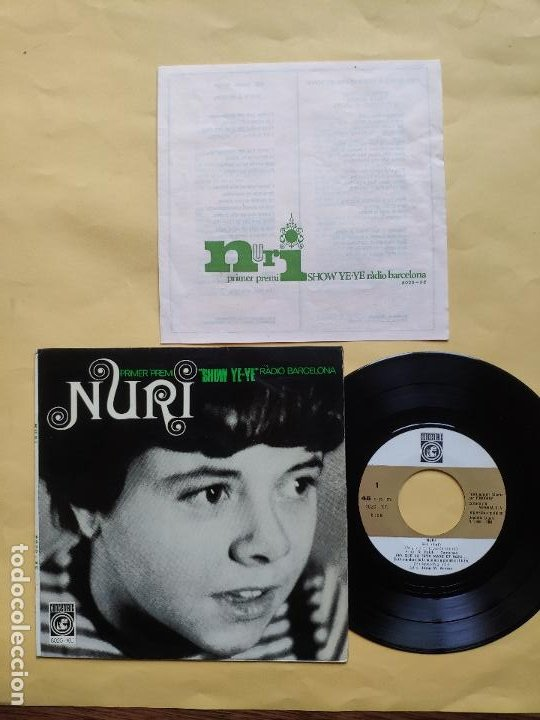 NURI - EP SPAIN PS - EX+ * SHOW YE YE * ELL / ES UNA DONA ( BEATLES COVER ) + 2 * CON HOJA INTERIOR (Música - Discos de Vinilo - EPs - Grupos Españoles de los 70 y 80)