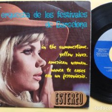 Discos de vinilo: ORQUESTA DE LOS FESTIVALES DE BARCELONA - EP SPAIN PS - SUMMERTIME / YELLOW RIVER / AMERICAN WOMAN. Lote 198373021