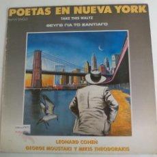Discos de vinilo: POETAS EN NUEVA YORK. LEONARD COHEN TAKE THIS WALTZ. GEORGE MOUSTAKI MIKIS THODORAKIS. 1986 CBS MAXI. Lote 198381986