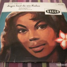 Discos de vinilo: EP CLUB JAMAICA AUGEN HAST DU WIE KAKAO DECCA 2133 GERMANY. Lote 198387028