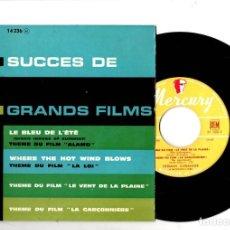 Discos de vinilo: SINGLE 4 SUCCES DE GRANDS FILMS. HERMAN CLEBANOFF. MERCURY RECORDS. Lote 198389432