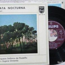 Discos de vinilo: W.A.MOZART SERENATA NOCTURNA DIR. EUGENE ORMANDY SINGLE VINYL MADE IN SPAIN 1962. Lote 198390322