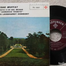Discos de vinilo: GEORG MUFFAT SONATA II EN SOL MENOR DE ARMONICO SINGLE VINYL MADE IN SPAIN 1962. Lote 198391116