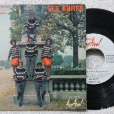 Discos de vinilo: LES SURFS DIR. SAM CLAYTON A PRESENT TU PEUX TÈN ALLER EP VINYL MADE IN FRANCE. Lote 198391726