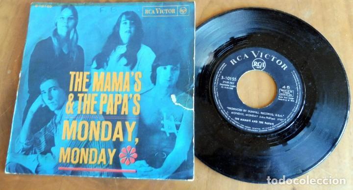 DISCO SINGLE - THE MAMA'S & THE PAPA'S - MONDAY, MONDAY (Música - Discos - Singles Vinilo - Solistas Españoles de los 50 y 60)