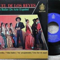 Discos de vinilo: MIGUEL DE LOS REYES Y SU BALLET DE ARTE ESPAÑOL DUENDES DE SEVILLA EP VINYL MADE IN SPAIN 1963. Lote 198392232