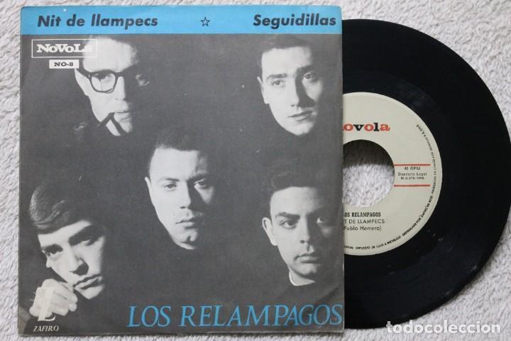 LOS RELAMPAGOS NIT DE LLAMPECS SEGUIDILLAS SINGLE VINYL MADE IN SPAIN 1965 (Música - Discos - Singles Vinilo - Solistas Españoles de los 50 y 60)