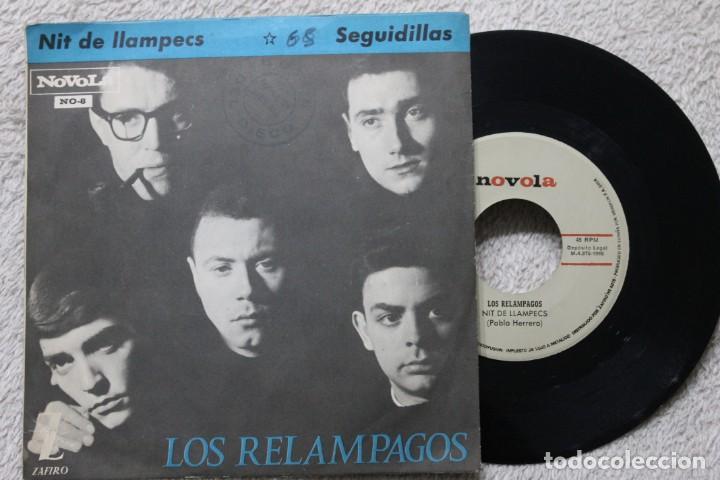 Discos de vinilo: LOS RELAMPAGOS NIT DE LLAMPECS SEGUIDILLAS SINGLE VINYL MADE IN SPAIN 1965 - Foto 2 - 198396211