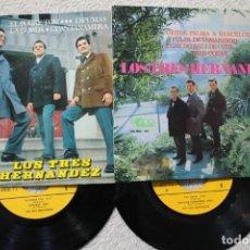 Discos de vinilo: LOTE DE 2 EP LOS TRES HERNANDEZ EP VINYL MADE IN SPAIN 1967 AUTOGRAFIADO. Lote 198396795