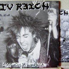 Discos de vinilo: IV REICH.1000 AÑOS DE ANARQUIA..NUEVO SIN PRECINTAR...PUNK ARAGON. Lote 198397697