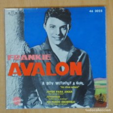Dischi in vinile: FRANKIE AVALON - A VOY WITHOUT A GIRL + 3 - EP. Lote 198402281