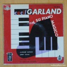 Discos de vinilo: CECIL GARLAND - LLORARE MAÑANA + 3 - EP. Lote 198402301