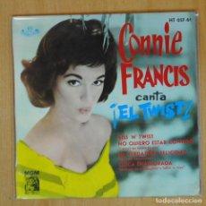 Disques de vinyle: CONNIE FRANCIS - KISS N TWIST + 3 - EP. Lote 198402650
