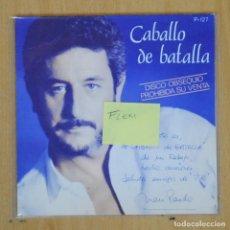 Discos de vinilo: JUAN PARDO - CABALLO DE BATALLA - SINGLE FLEXI. Lote 198402897