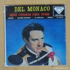 Discos de vinilo: DEL MONACO - CARMEN + 3 - EP. Lote 198402905