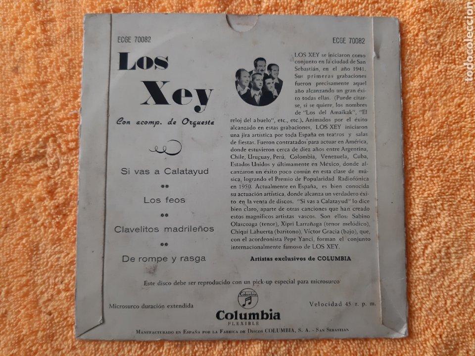 Discos de vinilo: EP. Los XEY. COLUMBIA . 1947? SI VAS A CALATAYUD, LOS FEOS, CLAVALITOS MADRILEÑOS, +1. - Foto 2 - 198407721