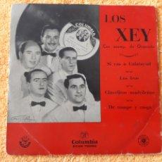 Discos de vinilo: EP. LOS XEY. COLUMBIA . 1947? SI VAS A CALATAYUD, LOS FEOS, CLAVALITOS MADRILEÑOS, +1.. Lote 198407721
