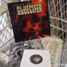 Discos de vinilo: GLUECIFER – TENDER IS THE SAVAGE.LP ORIGINAL USA 2000.CON INNER Y SINGLE.SUB POP – SP 495 . Lote 198409683