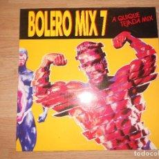 Discos de vinilo: BOLERO MIX 7 - QUIQUE TEJADA - BLANCO Y NEGRO 1990. Lote 198416606
