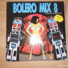 Discos de vinilo: BOLERO MIX 8 - QUIQUE TEJADA - 2-LPS - BLANCO Y NEGRO 1991. Lote 198416715
