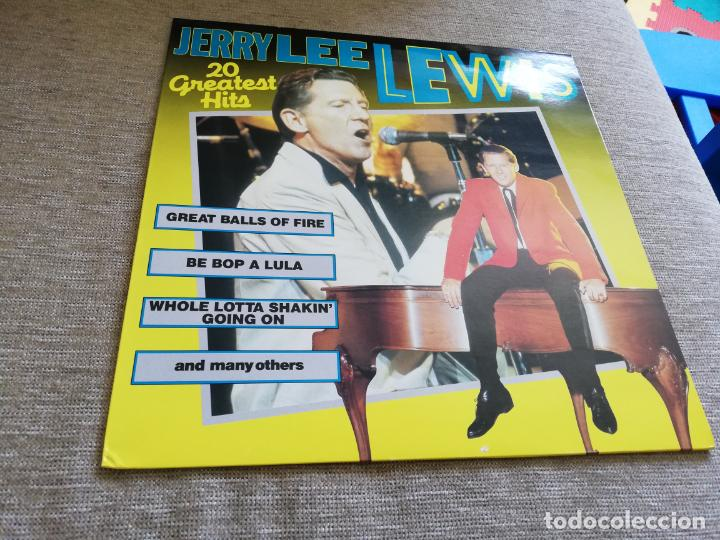 JERRY LEE LEWIS-20 GREATEST HITS. LP (Música - Discos - LP Vinilo - Rock & Roll)