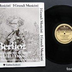 Discos de vinilo: BERLIOZ – PHILHARMONIA HUNGARICA / RICHARD KAPP – LADANNAZIONE DI FAUST / IL RE LEAR, I TROIANI. Lote 198424963