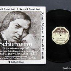 Discos de vinilo: ROBERT SCHUMANN – SINFONIA N.4 OP.120 / CONCERTO PER VIOLONCELLO OP. 129. Lote 198425367