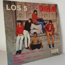 Discos de vinilo: LOS 5 DIABLOS *** AT A TIME LIKE THIS *** SINGLE UNICO EN TODOCOLECCIÓN GRUPO DE MUSICOS GERUNDENSES. Lote 128583823