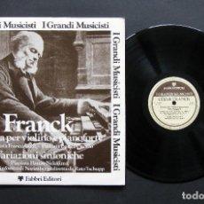 Discos de vinilo: FRANCK – SONATA PER VIOLINO E PIANOFORTE / VARIAZIONI SINFONICHE. Lote 198426226
