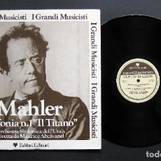 Discos de vinilo: GUSTAV MAHLER – UTAH SYMPHONY ORCHESTRA / MAURICE DE ABRAVANEL – SINFONIA N. 1 IL TITANO. Lote 198426763