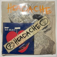 Discos de vinilo: MAXI SINGLE BIG BLACK HEADACHE Y EP HEARTBEAT EDICION INGLESA. Lote 198428435
