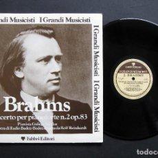 Discos de vinilo: BRAHMS – CONCERTO PER PIANOFORTE N. 2 OP. 83. Lote 198429290
