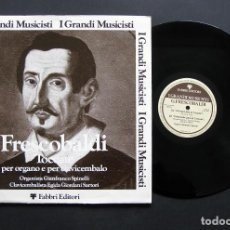 Discos de vinilo: GIROLAMO FRESCOBALDI – G. SPINELLI, EGIDA G. SARTORI – TOCCATE PER ORGANO E PER CLAVICEMBALO. Lote 198429678