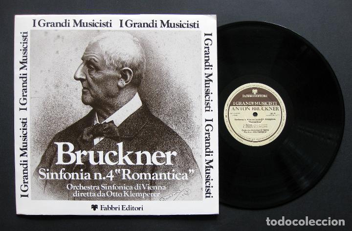 BRUCKNER – ORCHESTRA SINFONICA DI VIENNA / OTTO KLEMPERER – SINFONIA N. 4 ROMANTICA (Música - Discos de Vinilo - Maxi Singles - Clásica, Ópera, Zarzuela y Marchas)