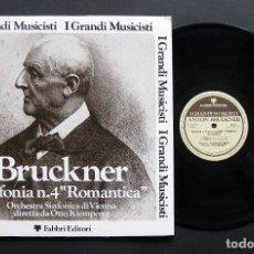 Discos de vinilo: BRUCKNER – ORCHESTRA SINFONICA DI VIENNA / OTTO KLEMPERER – SINFONIA N. 4 ROMANTICA. Lote 198430555