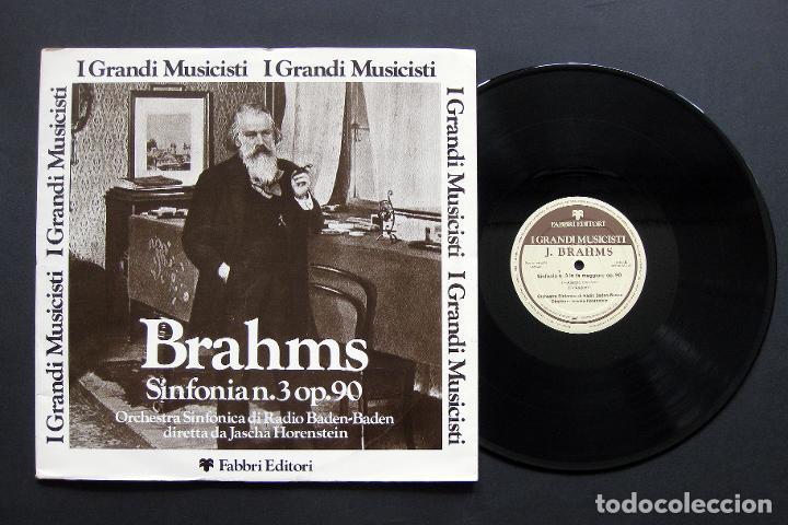 BRAHMS – ORCHESTRA SINFONICA DI RADIO BADEN-BADEN / JASCHA HORENSTEIN ?– SINFONIA N. 3 OP. 90 (Música - Discos de Vinilo - Maxi Singles - Clásica, Ópera, Zarzuela y Marchas)