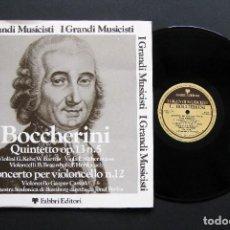 Discos de vinilo: LUIGI BOCCHERINI – QUINTETTO OP.13 N.5 / CONCERTO PER VIOLONCELLO N.12. Lote 198456425
