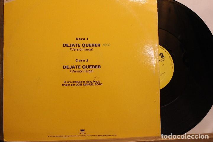 Discos de vinilo: JOSE MANUEL SOTO DEJATE QUERER / 1992 EPIC SONY / MAXI SINGLE PROMOCIONAL - Foto 2 - 198456925