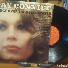 Discos de vinilo: RAY CONNIFF ORQUESTA & THE SINGERS BRIDGE OVER TROUBLED WATER LP SPAIN 1970 PDELUXE. Lote 198467757