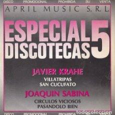 Discos de vinilo: JOAQUIN SABINA Y JAVIER KRAHE - EP DE 4 CANCIONES PROMOCIONAL DE SU LP LA MANDRAGORA #. Lote 198475028